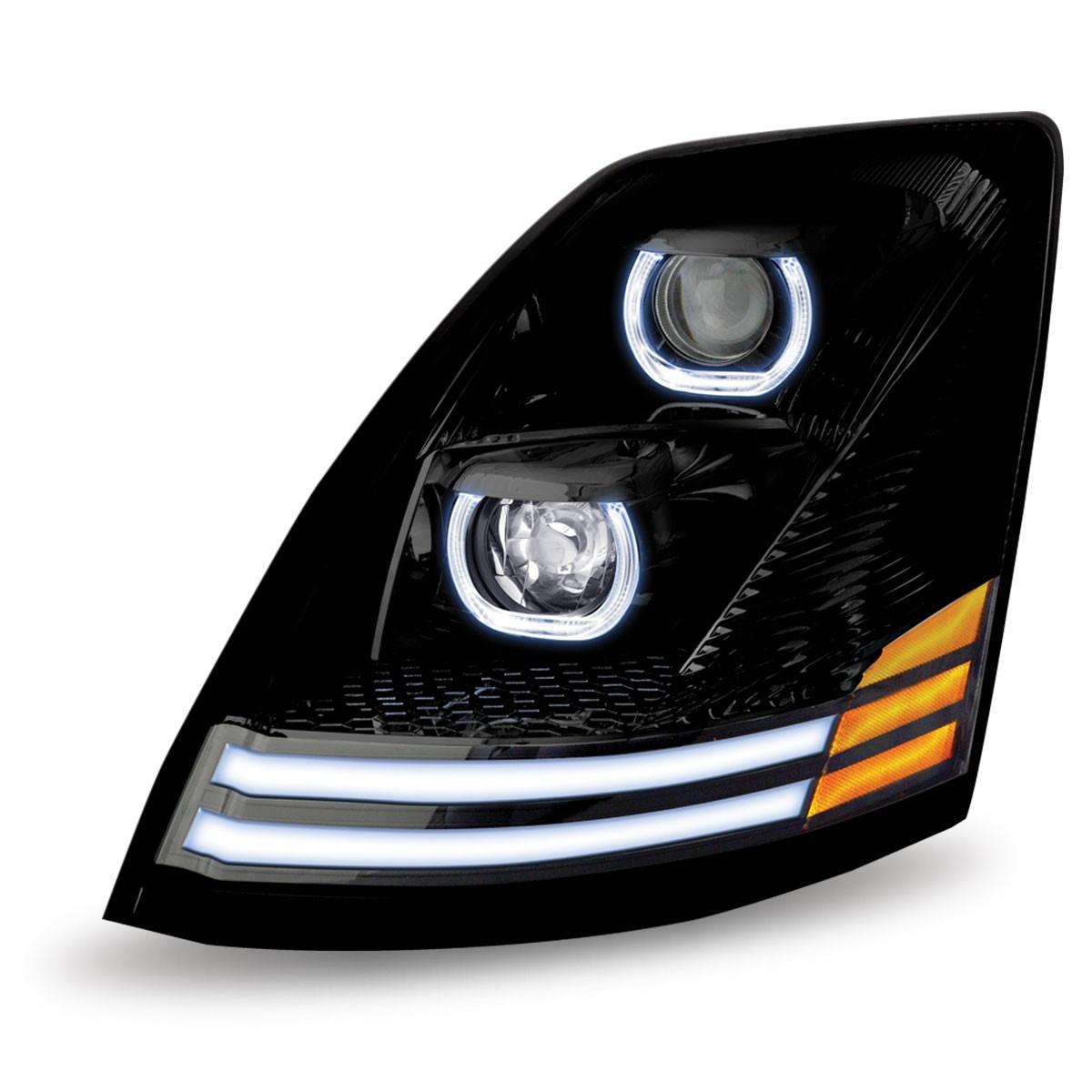Volvo VNL Black Headlight Driver Side 2004 & Up | eBay  |Headlamp 2000 Volvo Vnl