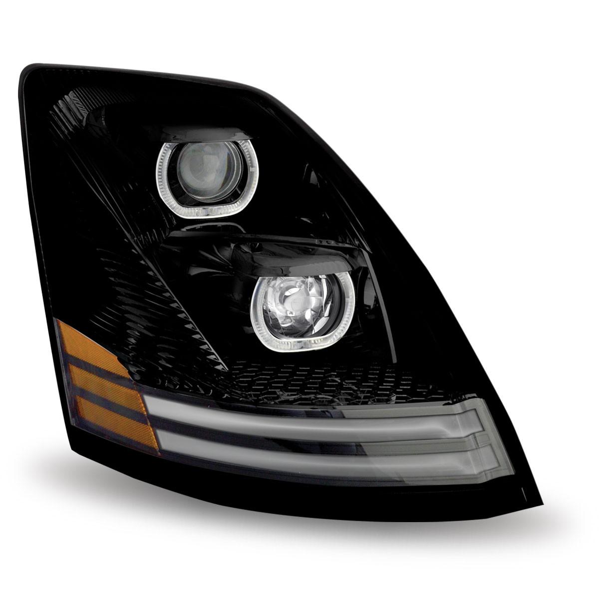 VOLVO VNL - BLACK LED Projector Headlight (PASSENGER SIDE)