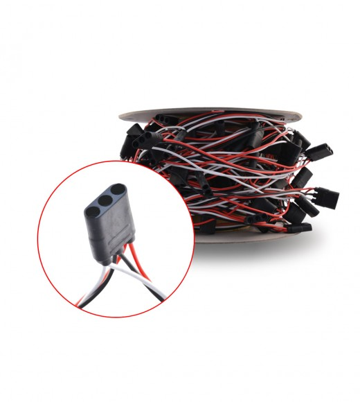 """Triple Female Bullet Plug Wire Harness with 4"""" Spacing - 100 ft. Spool"""