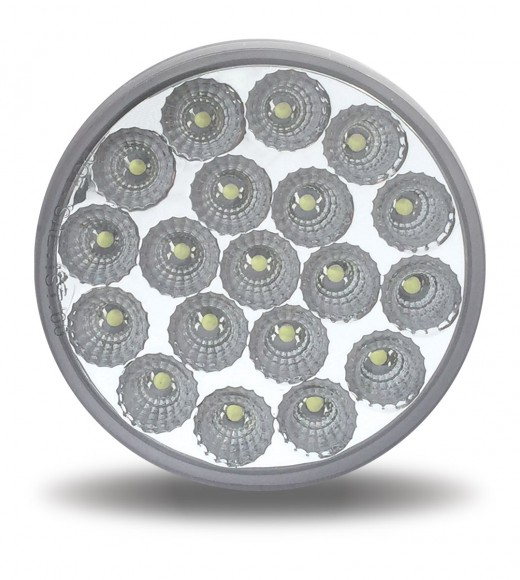 """4"""" Red Stop, Turn & Tail to Amber Auxiliary LED Light (19 Diodes)"""