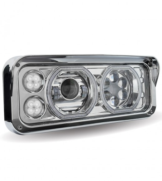 Universal LED Projector Headlight Assembly (Chrome | Passenger Side)