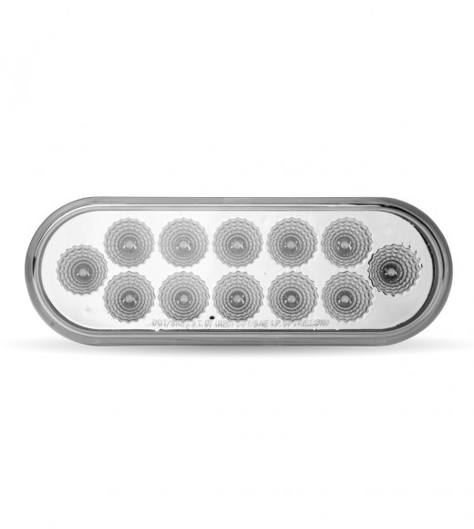 Red Stop, Turn & Tail to Amber Strobe LED Oval Light (12 Diodes)