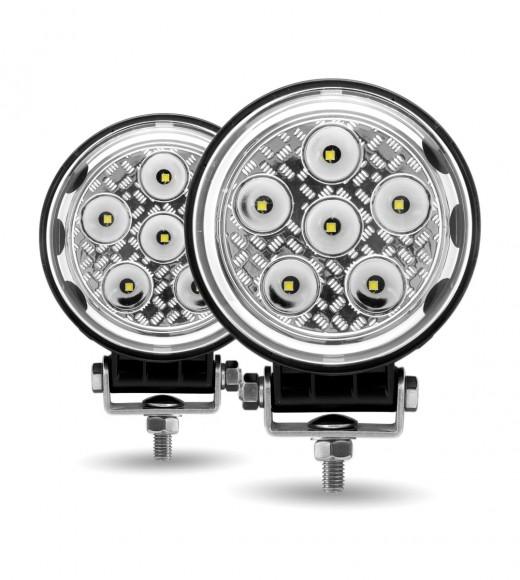 "4.5"" Round 'Radiant Series' LED Work Lamps (Spot & Flood Beam | 4300 Lumens)"