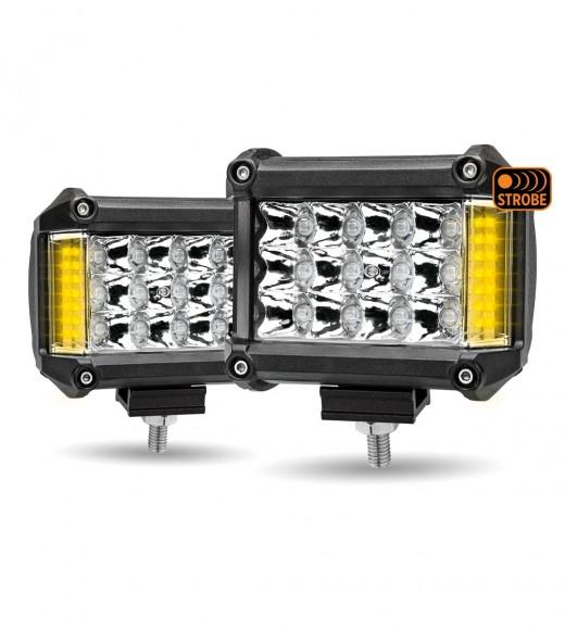 "4"" 'Strobe Series' Spot LED Work Lamps with Amber Side Strobe (1800 Lumens)"