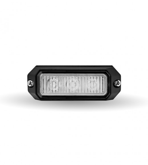 """Class 1 Directional 3 LED Surface Mount Amber Strobe Light with """"L"""" Bracket (36 Flash Patterns)"""