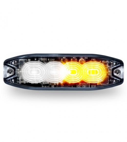 "POS Display of 20 x Split Color Class 1 Directional LED Super Slim Surface Mount Strobe Light with ""L"" Bracket (36 Flash Patterns)"