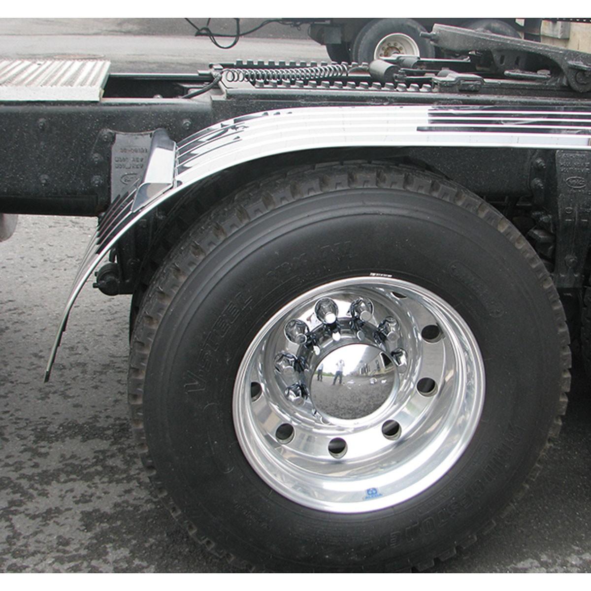"Western Star 4900 >> 60"" Standard 4 Ribbed Half Fenders with Beaded Edge (16 Ga ..."