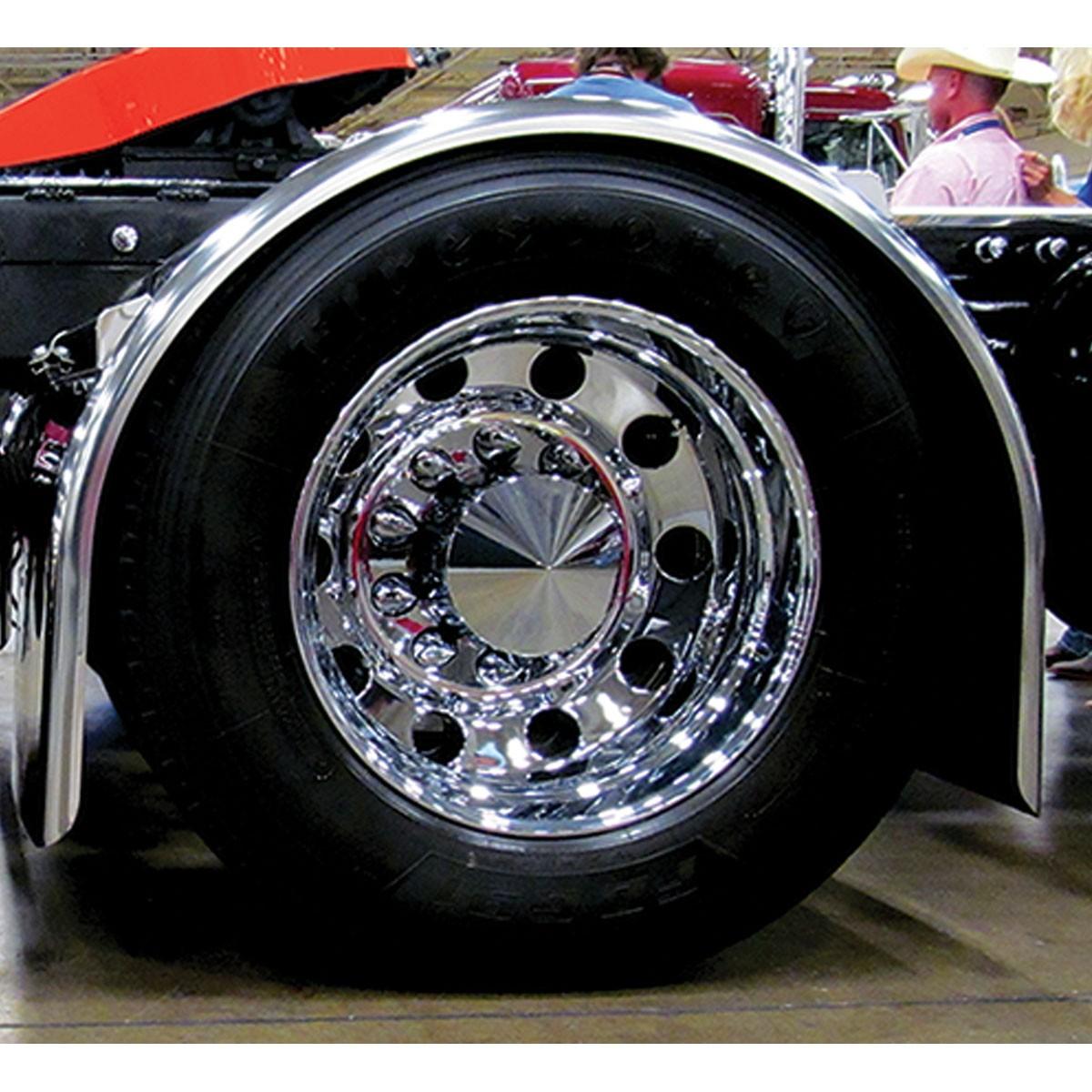 """Western Star 4900 >> 96"""" Heavy Duty Super Long Single Axle Fenders (14 Ga.) - For 43.5"""" O.D Tires - 96"""" Single Axle ..."""