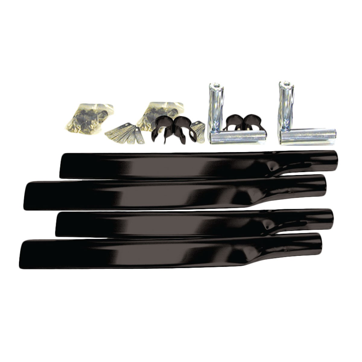 Poly Fender Mounting Kit : Poly single axle fender mounting kit w black triangular arms