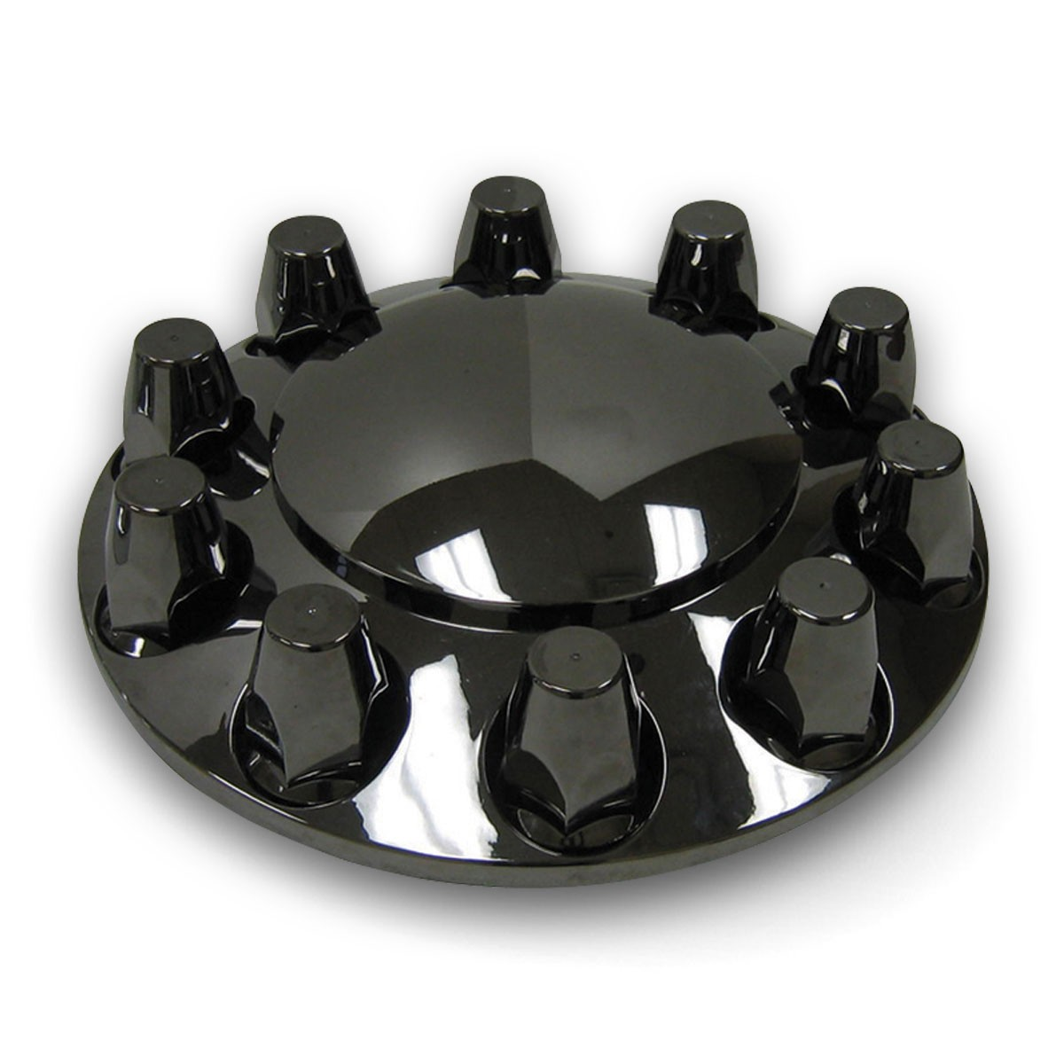 Black Chrome Abs Plastic Front Hub Cover Kit W Removable