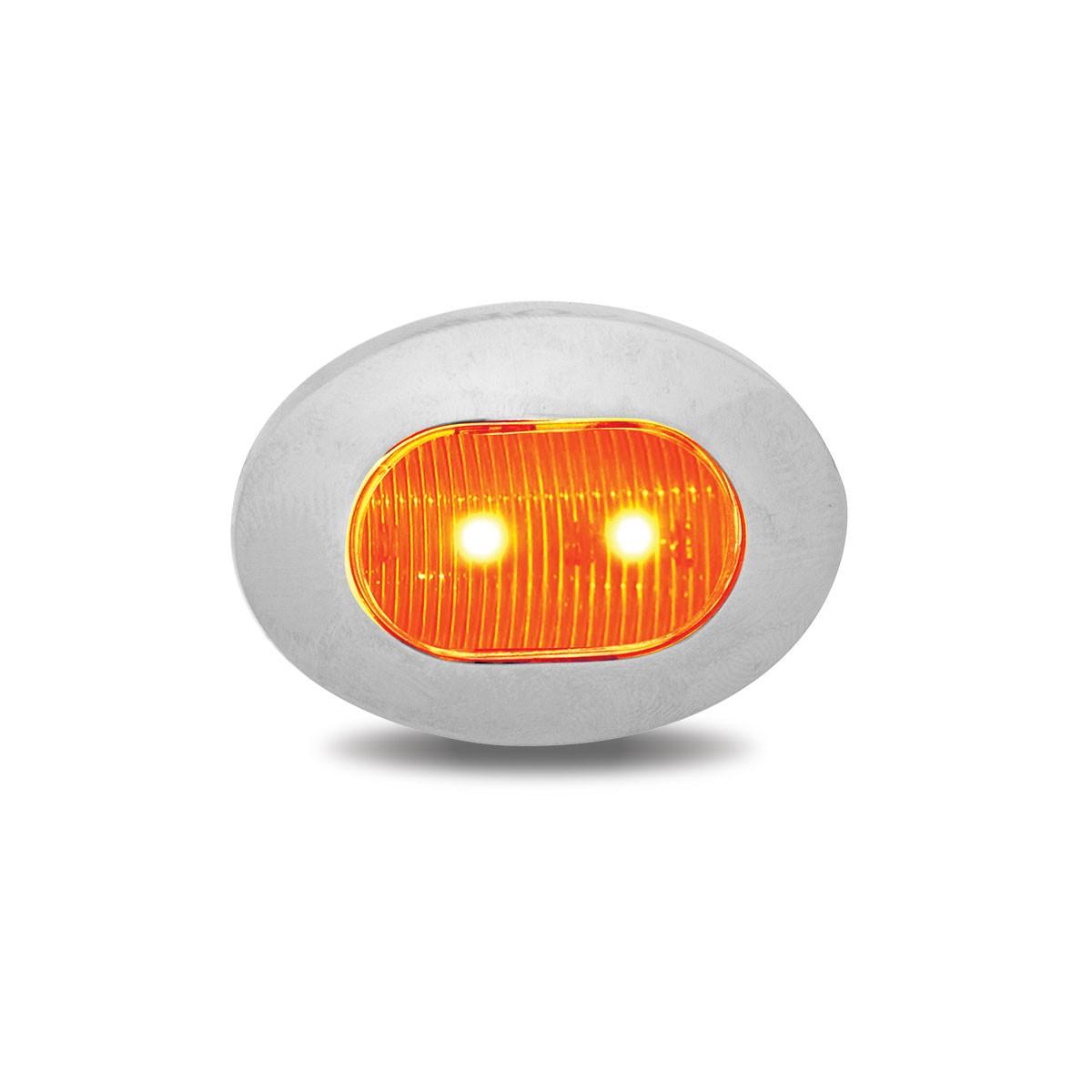 "Western Star 4900 >> 3/4"" Oval Amber LED Marker Light (2 Diodes)"