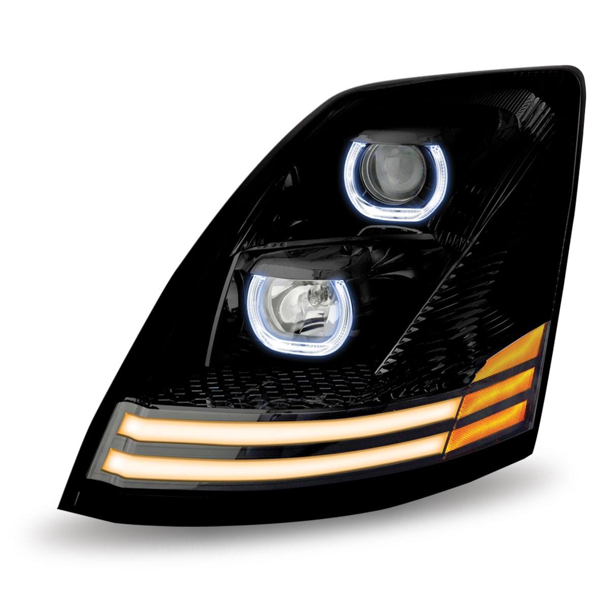 Western Star 4900 >> Volvo VN\VNL Black Halogen Headlight Assembly (Driver Side) - Volvo VN / VNL Headlight ...