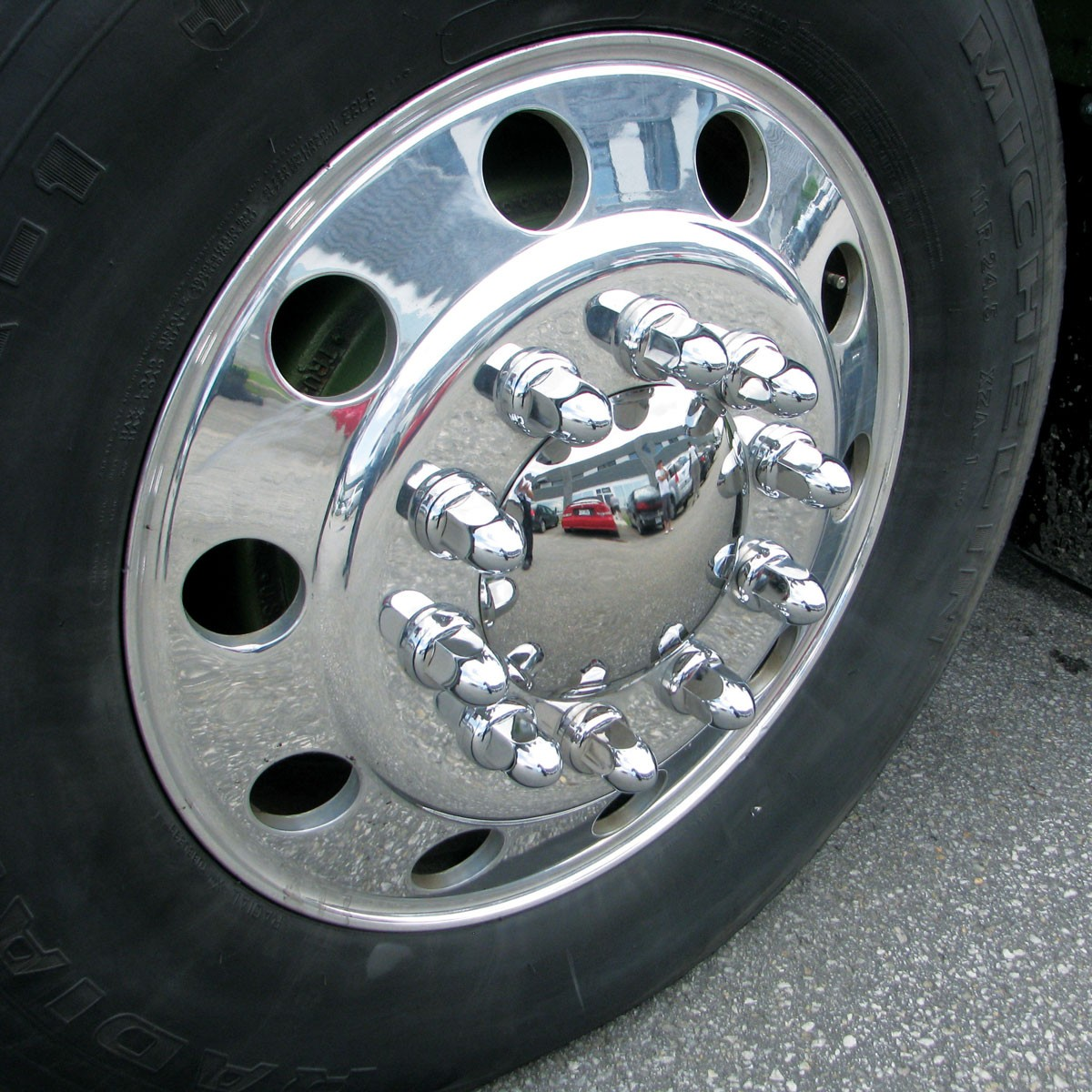 33mm Nut Cover w/ Flange - Chrome Plastic Nut Covers - Nut Covers - Wheel Accessories ...