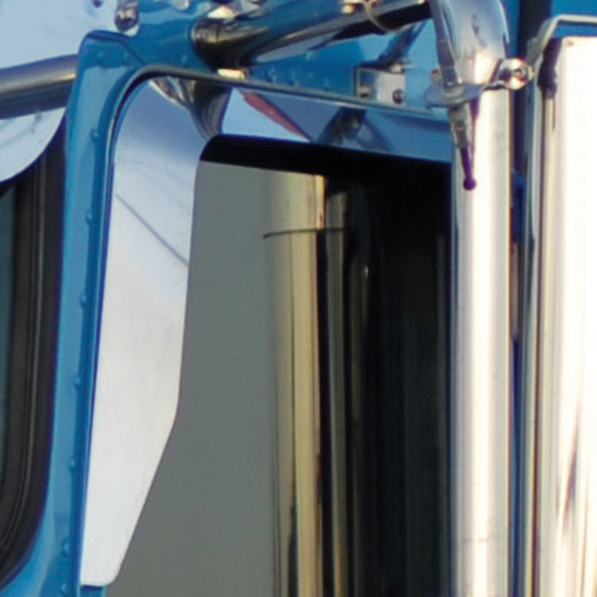 Western Star 4900 >> KW. Door Window Shade - Without Convex Mirror Arm Cutout ...