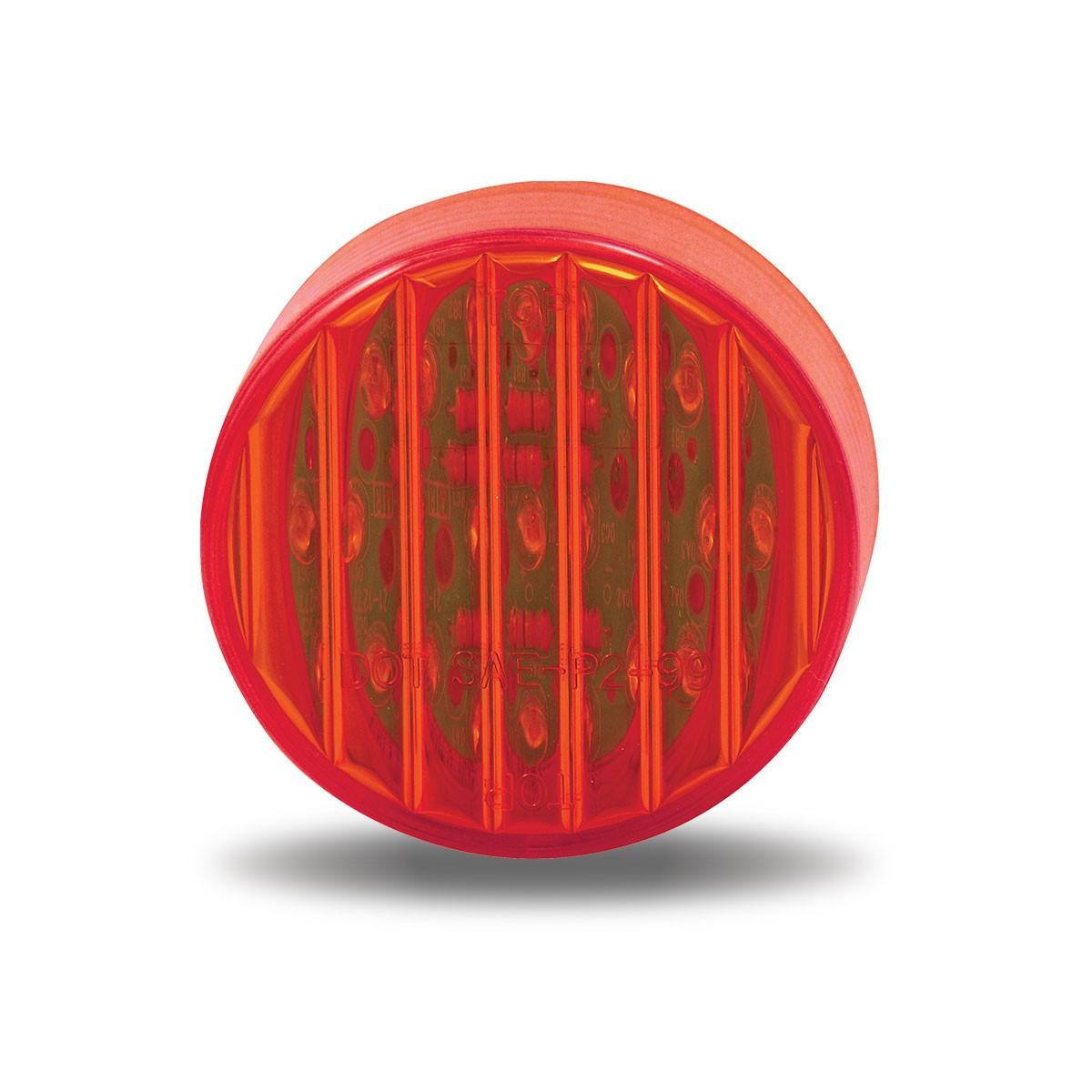 "Western Star 4900 >> 2.5"" Red Ribbed LED Marker Light (13 Diodes)"