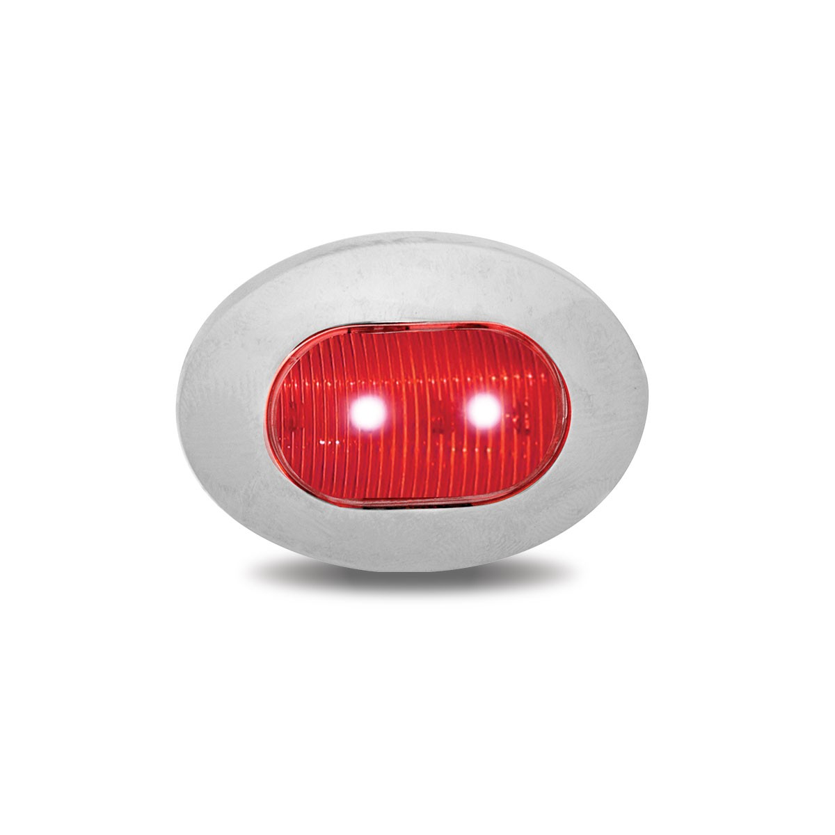 Clear Red Mini Oval Led Marker Light 3 Diodes
