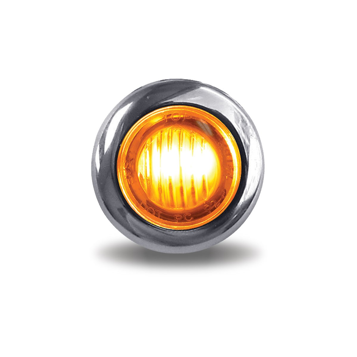 "Western Star 4900 >> 3/4"" Round Amber Marker to White Auxiliary LED Light (2 ..."