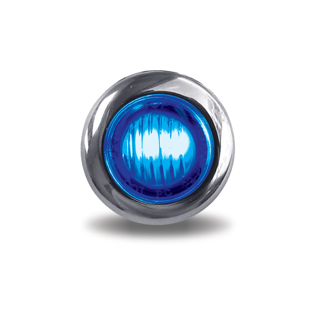 Red Marker To Blue Auxiliary 3 4 Quot Round Led Light 2 Diodes
