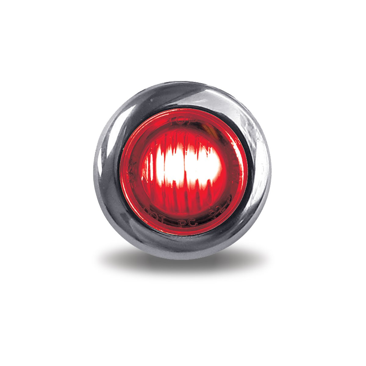 """3/4"""" Round Red Marker to Blue Auxiliary LED Light (2 Diodes)"""