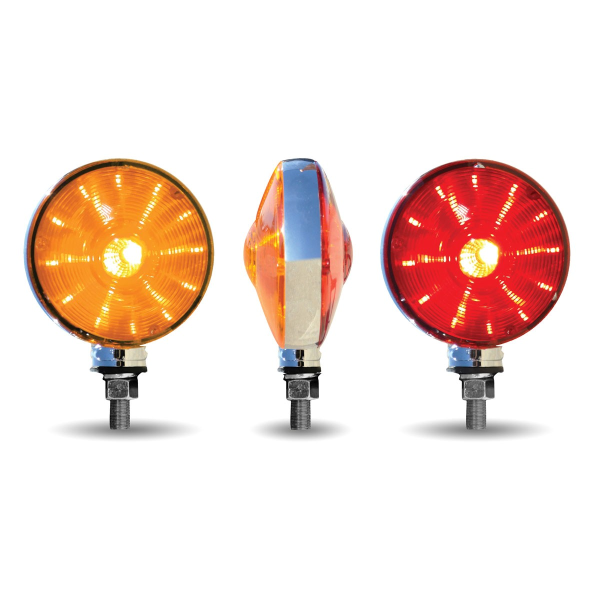 Round Amber Red Turn Signal Amp Marker Quot Ol Skul Quot Led