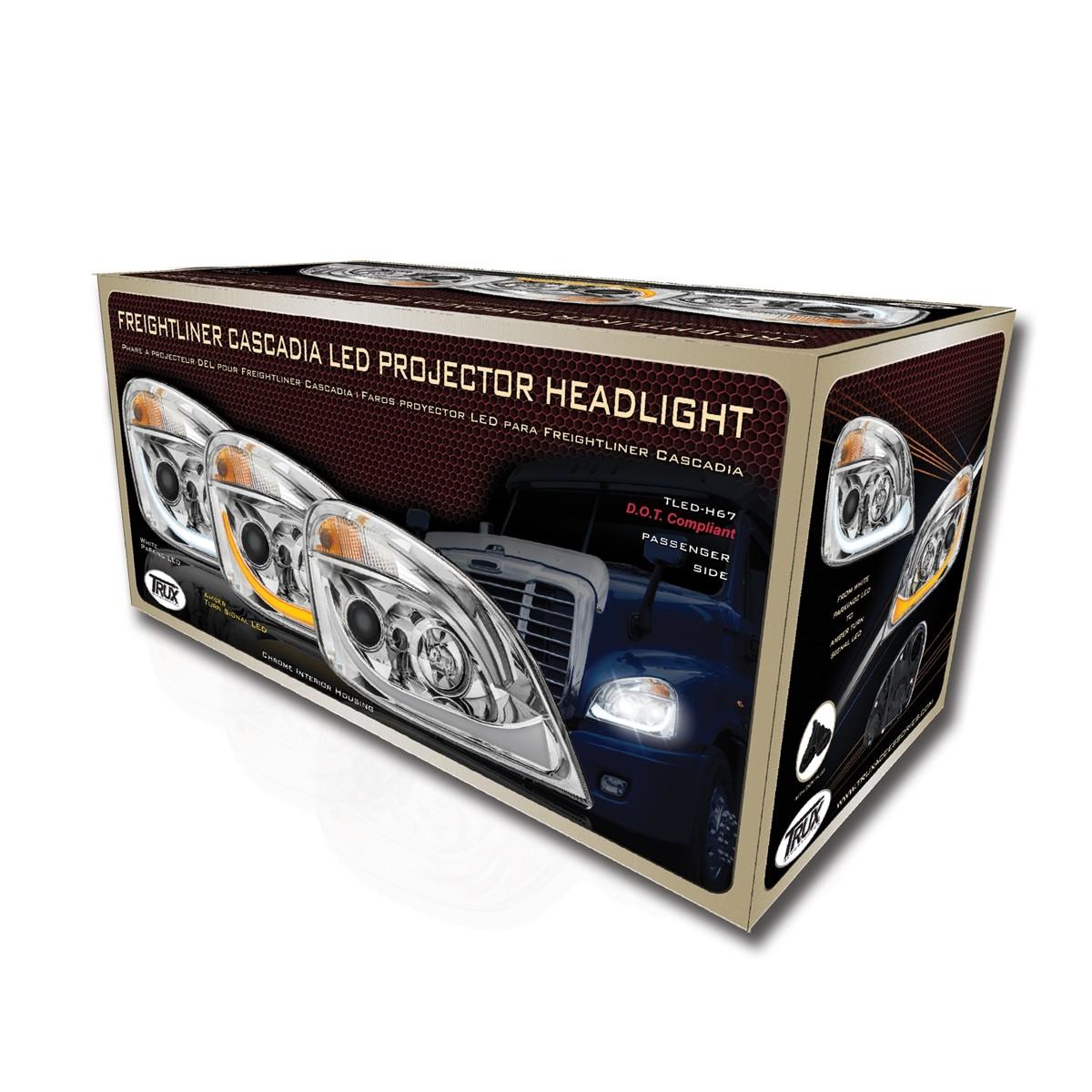 Ftl Cascadia Chrome Led Projector Headlight Assembly