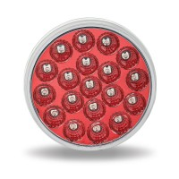 "4"" Anodized Red LED Stop, Turn & Tail Light (19 Diodes)"