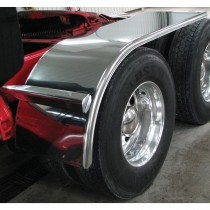 "80"" Standard Half Fenders with Flange (16 Ga.) - For 43.5"" or 46.5"" O.D Tires"