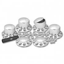 Complete Chrome ABS Plastic Axle & Nut Cover Kit