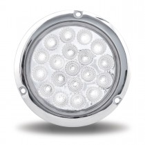 """4"""" Red Stop, Turn & Tail to White Back Up LED Light with Flange Mount (19 Diodes)"""