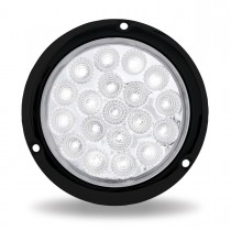 """4"""" Red Stop, Turn & Tail to White Back Up LED Light with Black Flange Mount (19 Diodes)"""