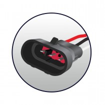 """4"""" Red Stop, Turn & Tail to White Back Up LED Light with Super Seal Adapter (19 Diodes)"""
