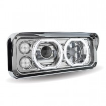 Chrome LED Projector Headlight Assembly with Housing (Passenger Side)