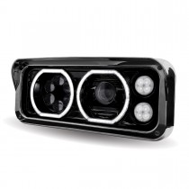 Universal Black LED Projector Headlight Assembly with Housing (Driver Side)