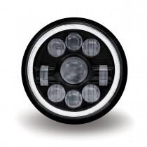 "7"" Black LED Projector Headlight (Combination High & Low Beam   3000 Lumens)"