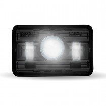 "4"" x 6"" Black LED Projector Headlight (Low Beam 