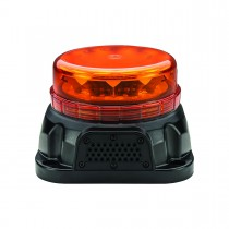 Class 1 Beacon Low Profile LED Warning Light with Built-In Back Up Alarm (Permanent Mount)