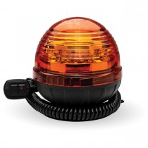 Dome Amber LED Strobe Light with 3 Flash Patterns (Vacuum Magnetic Mount)