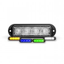 """4-Color Class 1 Directional 4 LED Surface Mount Strobe Light with """"L"""" Bracket (36 Flash Patterns)"""