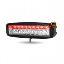 "6"" 'Strobe Series' Spot LED Work Lamp with Red Strobe (1400 Lumens)"