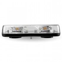 Light Bar Amber LED Strobe Light with 3 Flash Patterns (Permanent Mount)