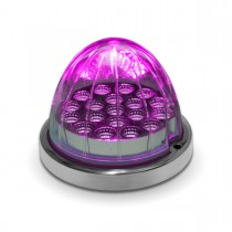 Amber Turn Signal & Marker to Purple Auxiliary LED Watermelon Light with Reflector Cup & Locking Ring (19 Diodes)