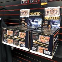 "POS Display of 6 x 4"" x 6"" Heated LED Projector Headlights (High Beam | 2400 Lumens)"