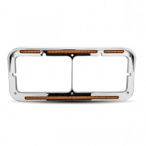 Clear Amber Marker LED Headlight Bezel (51 Diodes)