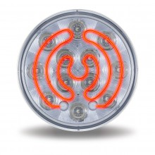 """4"""" Red Stop, Turn & Tail to White Back Up LED Light w/ Heated Lens (12 Diodes)"""