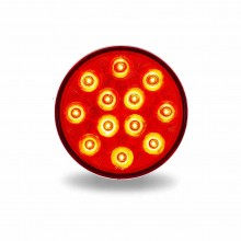 """4"""" Red Stop, Turn & Tail to White Back Up LED Light (12 Diodes)"""