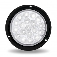 "4"" Red Stop, Turn & Tail to White Back Up LED Light with Black Flange Mount (19 Diodes)"