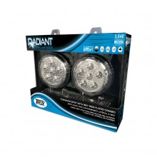 "4.5"" Round 'Radiant Series' LED Work Lamps (Spot & Flood Beam 