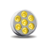 """2"""" Amber Marker to Green Auxiliary Round LED Light (7 Diodes)"""