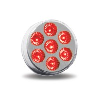 """2"""" Red Marker to Green Auxiliary Round LED Light (7 Diodes)"""