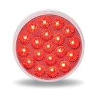 "4"" Anodized Dual Revolution Red Stop, Turn & Tail to White Back Up LED Light (19 Diodes)"